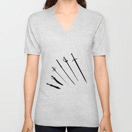 Sword Silhouettes Unisex V-Neck