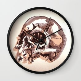 Ragged Skull Wall Clock