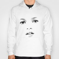 kate moss Hoodies featuring Kate Moss T by Mauricio Vargas