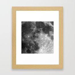 Black & White Moon Framed Art Print