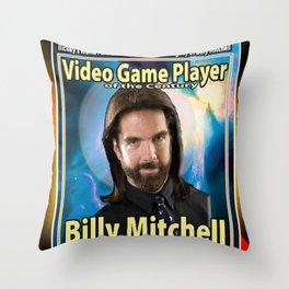 Billy Mitchell card (rare) Throw Pillow