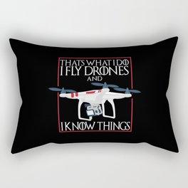 I Fly Drones Rectangular Pillow