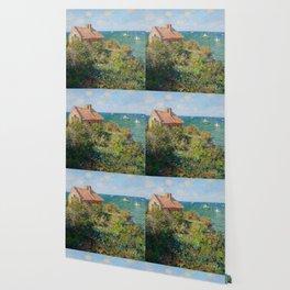 Fisherman's Cottage on the Cliffs at Varengeville Claude Monet Wallpaper