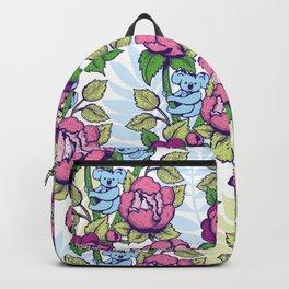 Peony flowers and koalas bears Backpack