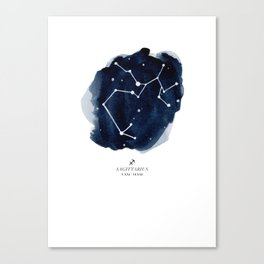 Zodiac Star Constellation - Sagittarius Canvas Print
