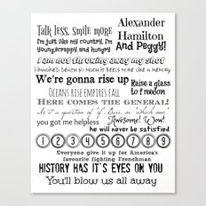 Hamilton Quotes Canvas Print