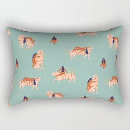Tigers and girls Rectangular Pillow