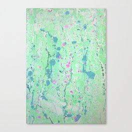 Spring Rain marbleized print Canvas Print