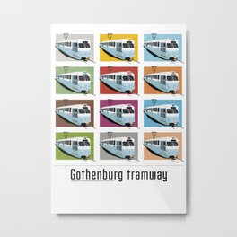 Gothenburg tramway Metal Print