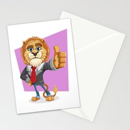 Classy Old Lion Stationery Cards