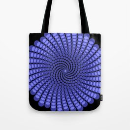 more blue spirals Tote Bag