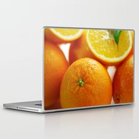 dentist Laptop & iPad Skins featuring Fresh Orange for the Kitchen by Tanja Riedel