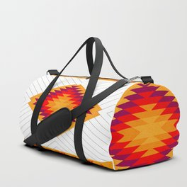 053 Traditional navajo pattern interpretation Duffle Bag
