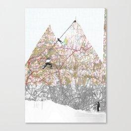 The climb Canvas Print