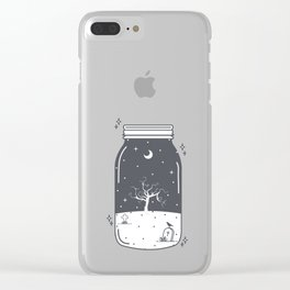 Halloween in a jar Clear iPhone Case