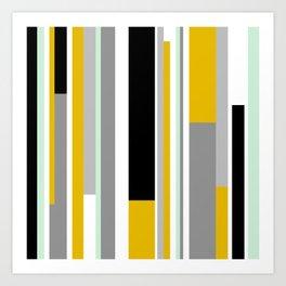 Geo Stripes Art Print