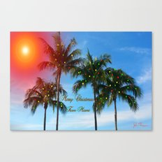 Merry Christmas from Miami Canvas Print