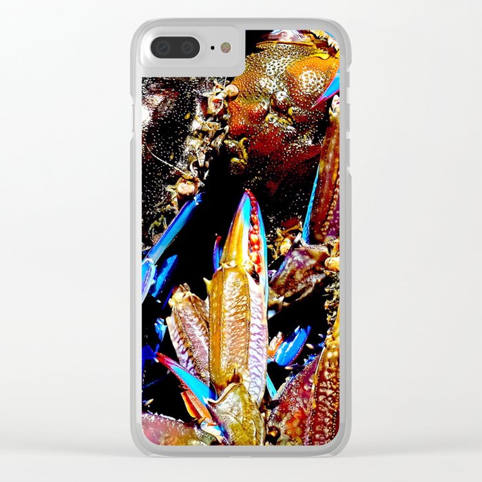 bright Blue swimmer crabs, Whyalla, South Australia Clear iPhone Case