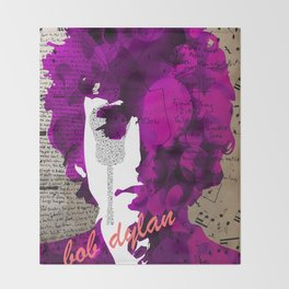 bob dylan Throw Blanket