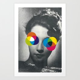 Psychedelic glasses Art Print