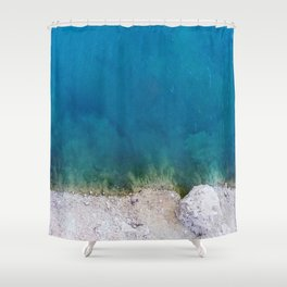 Blue from the top 1 Shower Curtain