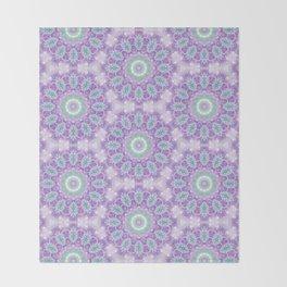Lavender & Emerald Mandala Pattern Throw Blanket