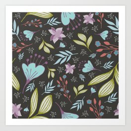 Spring Flowers Style E Art Print
