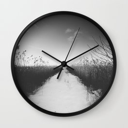 Why move - BW Wall Clock