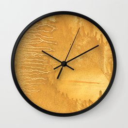 Sandy brown clouded watercolor Wall Clock