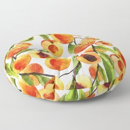 Passionate for peaches Floor Pillow