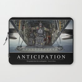 Anticipation: Inspirational Quote and Motivational Poster Laptop Sleeve
