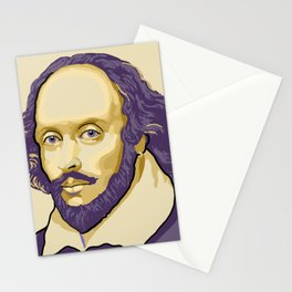 Shakespeare - royal purple and yellow Stationery Cards