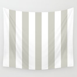 Pastel gray - solid color - white vertical lines pattern Wall Tapestry