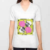 pomegranate V-neck T-shirts featuring pomegranate by Isabella Asratyan