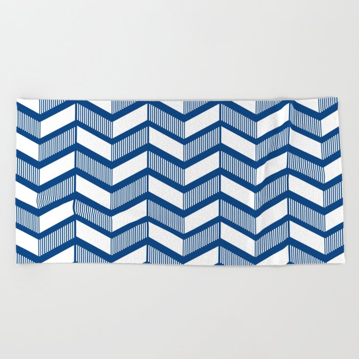 Modern Chevron Beach Towel
