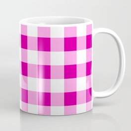 Magenta and White Check Coffee Mug