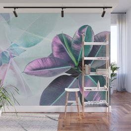 Violet Tropical Plant Wall Mural