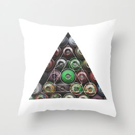 Graffiti Spray Cans - Geometric Photography Throw Pillow
