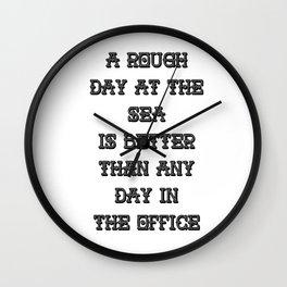 A Rough Day At The Sea Wall Clock