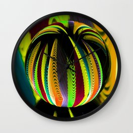 Variation in the coloured glass ball. Wall Clock