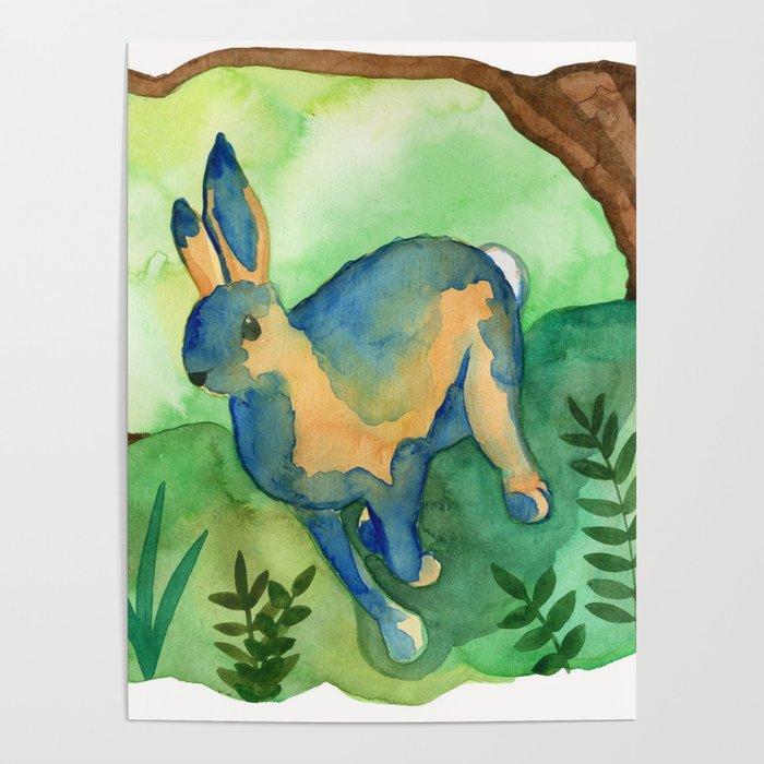 Running Hare Poster