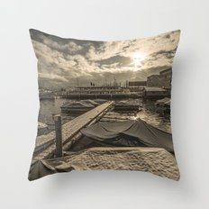 Cold Boats Throw Pillow