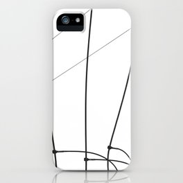 b l a c k l i n e s 8 iPhone Case