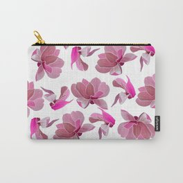 Elegant blush pink watercolor botanical floral Carry-All Pouch