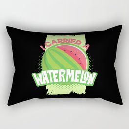 Watermelon Pregnancy Rectangular Pillow