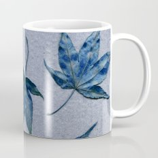 Japanese maple leaves - blue on faded lavender Coffee Mug