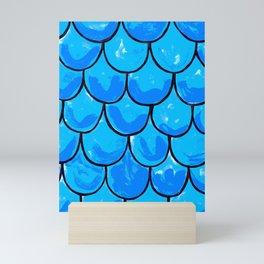 Blue roof tiles Mini Art Print