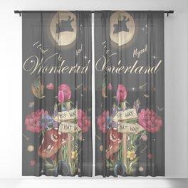 I Found Myself In Wonderland - Alice In Wonderland Sheer Curtain