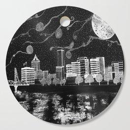 Portland Oregon Skyline Cutting Board