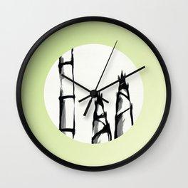 Bamboo Shoots Sprout Wall Clock